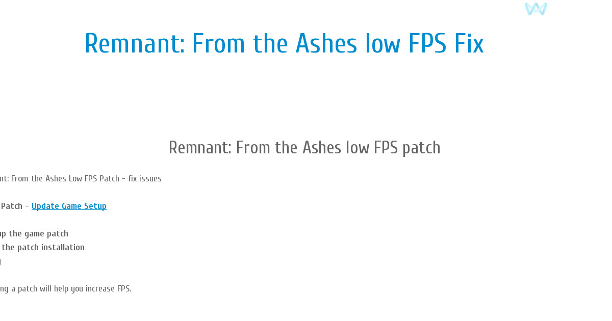 Remnant: From the Ashes low FPS
